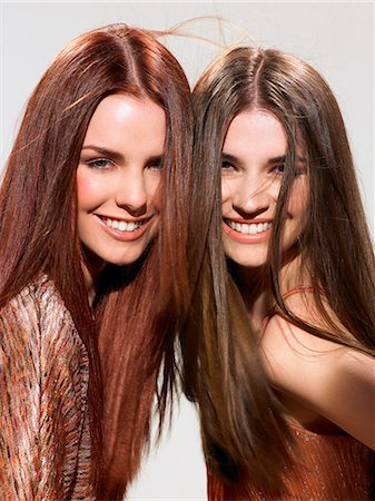 Two friends with beautiful hair Stock Photo - Rights-Managed, Code: 847-06052654