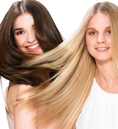smooth - Two friends with beautiful hair Stock Photo - Rights-Managed, Code: 847-06052651