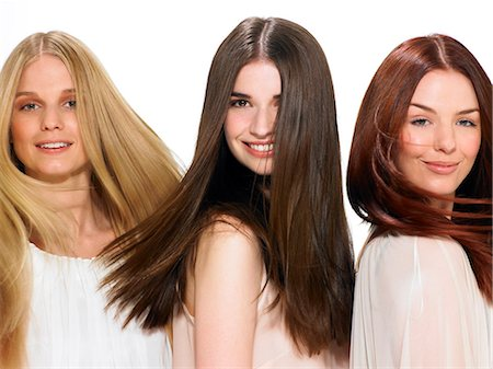 Three friends with beautiful hair Stock Photo - Rights-Managed, Code: 847-06052653