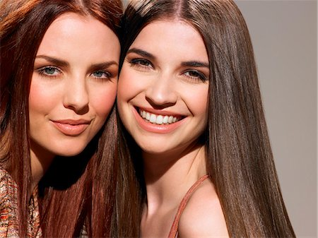 Two friends with beautiful hair Stock Photo - Rights-Managed, Code: 847-06052664