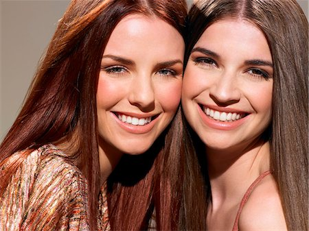 Two friends with beautiful hair Stock Photo - Rights-Managed, Code: 847-06052665
