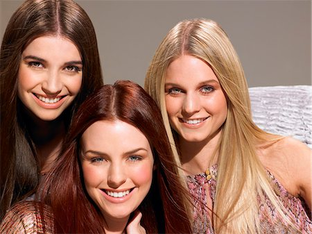 Three friends with beautiful hair Stock Photo - Rights-Managed, Code: 847-06052670