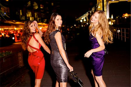 Girls night out in London by Tower Bridge Stock Photo - Rights-Managed, Code: 847-06125704
