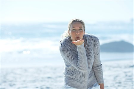 Healthy mature woman standing by sea Stock Photo - Rights-Managed, Code: 847-06540688