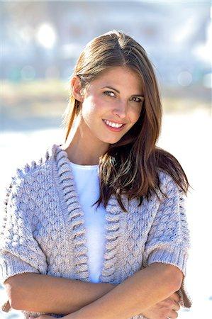 slim - Beautiful brunette standing on beach Stock Photo - Rights-Managed, Code: 847-06727227