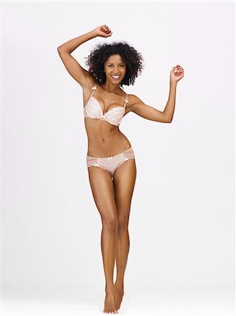 Full-length body shot of afro-caribbean woman Stock Photo - Rights-Managed, Code: 847-08522725