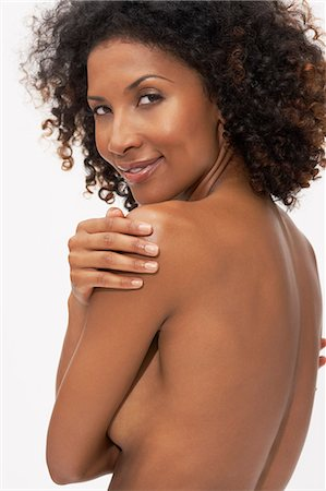 Body shot of afro-caribbean woman Stock Photo - Rights-Managed, Code: 847-08522745