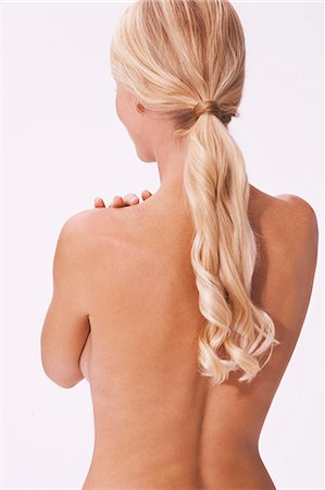Back shot of blonde woman Stock Photo - Rights-Managed, Code: 847-08522782