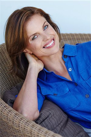 Portrait of beautiful mature woman. Stock Photo - Rights-Managed, Code: 847-08655613