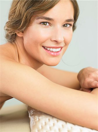 Happy, engaging woman smiling Stock Photo - Rights-Managed, Code: 847-02782065