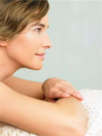 Profile of woman with radiant skin Stock Photo - Rights-Managed, Code: 847-02782066