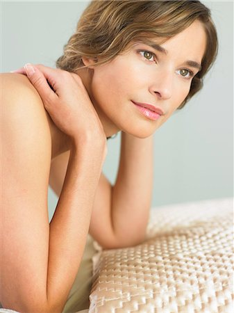 Portrait of woman with radiant skin Stock Photo - Rights-Managed, Code: 847-02782085
