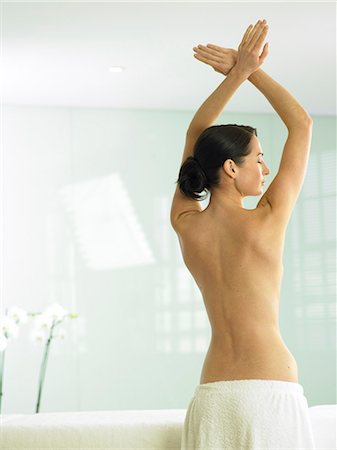 Beautiful back shot of woman Stock Photo - Rights-Managed, Code: 847-02782376