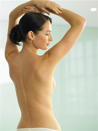 Beautiful back shot of woman Stock Photo - Rights-Managed, Code: 847-02782385
