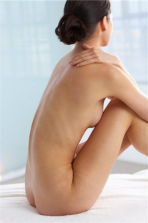 Back of beautiful naked woman Stock Photo - Rights-Managed, Code: 847-02782419