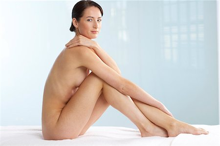Beautiful naked woman sitting up Stock Photo - Rights-Managed, Code: 847-02782410