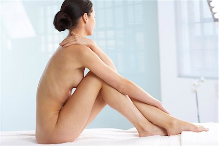 Beautiful naked woman sitting up Stock Photo - Rights-Managed, Code: 847-02782411