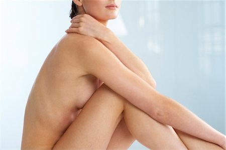 Body of beautiful naked woman sitting up Stock Photo - Rights-Managed, Code: 847-02782412