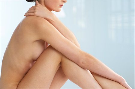 Body of beautiful naked woman sitting up Stock Photo - Rights-Managed, Code: 847-02782413