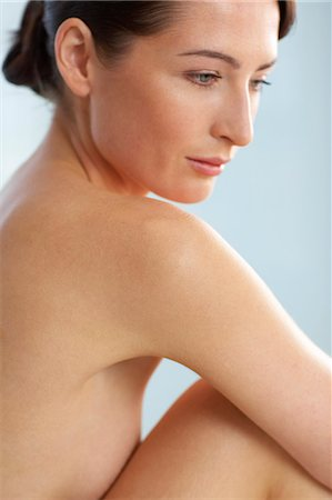 Beautiful naked woman sitting up Stock Photo - Rights-Managed, Code: 847-02782429