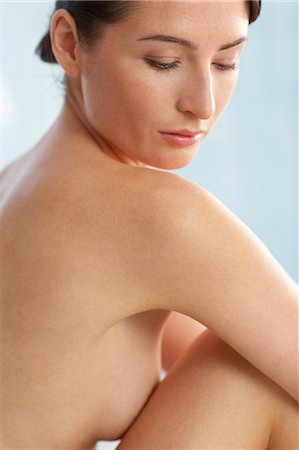 Beautiful naked woman sitting up Stock Photo - Rights-Managed, Code: 847-02782430