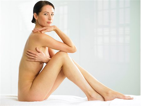 Beautiful naked woman sitting up Stock Photo - Rights-Managed, Code: 847-02782464
