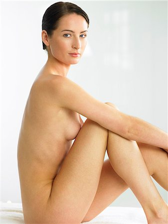 Beautiful naked woman sitting up Stock Photo - Rights-Managed, Code: 847-02782474