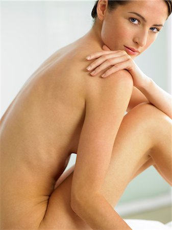 Beautiful naked woman sitting up Stock Photo - Rights-Managed, Code: 847-02782480