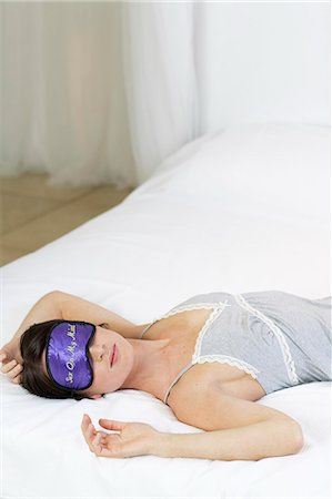 erotic female figures - Shot of woman with sexy sleep mask Stock Photo - Rights-Managed, Code: 847-02782555