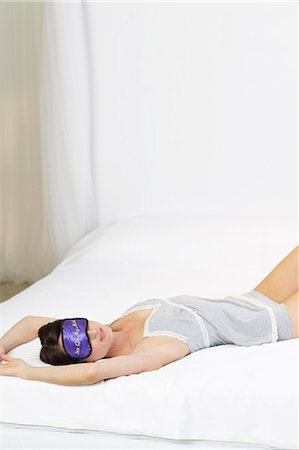 erotic female figures - Shot of woman with sexy sleep mask Stock Photo - Rights-Managed, Code: 847-02782558