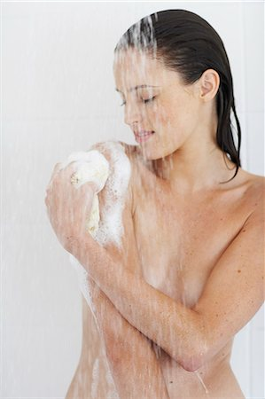 Cropped shot of beautiful nude woman showering. Stock Photo - Rights-Managed, Code: 847-02782845