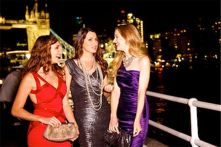Girls night out in London by Tower Bridge Stock Photo - Rights-Managed, Code: 847-03719756