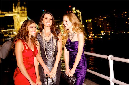 Girls night out in London by Tower Bridge Stock Photo - Rights-Managed, Code: 847-03719757