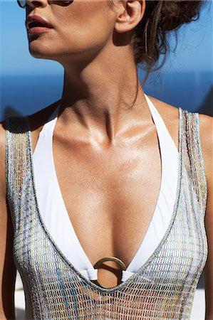 Close-up of beautiful lady wearing bikini Stock Photo - Rights-Managed, Code: 847-03758007