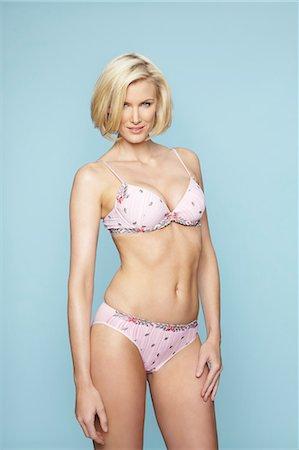 Beautiful mature blonde woman wearing underwear Stock Photo - Rights-Managed, Code: 847-03862630