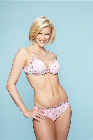 Beautiful mature blonde woman wearing underwear Stock Photo - Rights-Managed, Code: 847-03862633