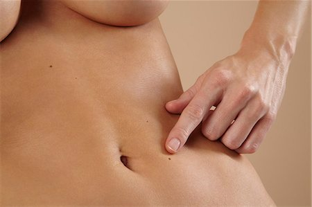 Close up of beautiful stomach Stock Photo - Rights-Managed, Code: 847-03862669