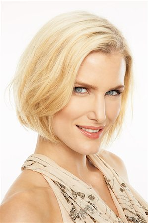 Portrait of beautiful mature blonde woman wearing make-up Stock Photo - Rights-Managed, Code: 847-03862741
