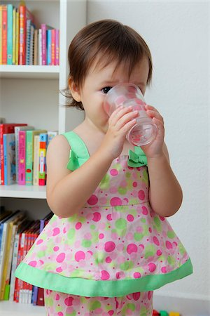 Young girl drinking water Stock Photo - Rights-Managed, Code: 849-05756978