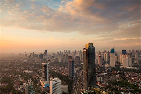 Indonesia, Jakarta, Financial district at sunset Stockbilder - Lizenzpflichtiges, Bildnummer: 849-08322074