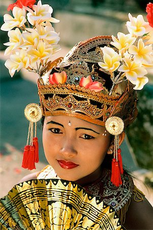 Indonesia, Bali, Young Balinese dancer in legong costume Stock Photo - Rights-Managed, Code: 849-02866237
