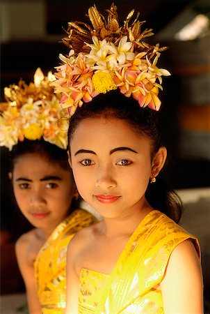 Indonesia, Bali, Young Balinese dancers in costume. Stock Photo - Rights-Managed, Code: 849-02866238