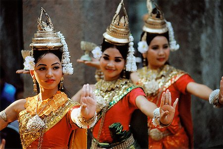 Cambodia, Siem Reap, Dancers at the temples of Angkor Stock Photo - Rights-Managed, Code: 849-02867020