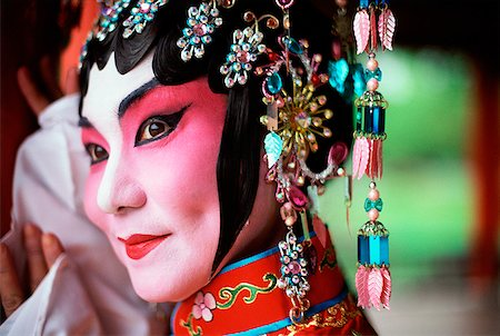singapore traditional costume lady - Singapore, Member of Beijing Opera. Stock Photo - Rights-Managed, Code: 849-02867041