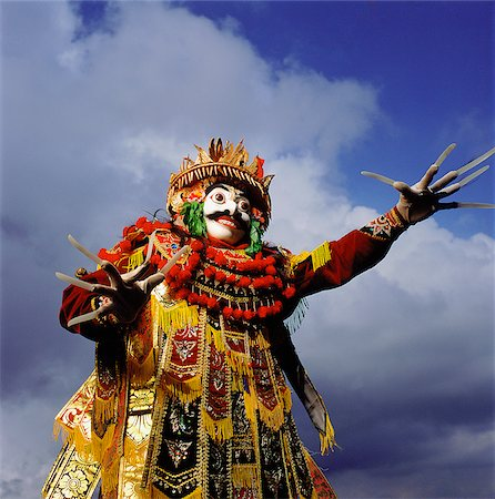 Indonesia, Bali, Ubud, Mask (Topeng) dancer performing. Stock Photo - Rights-Managed, Code: 849-02867635