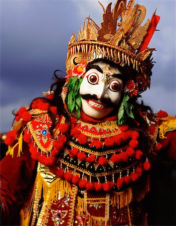 Indonesia, Bali, Ubud, Mask (Topeng) dancer performing. Stock Photo - Rights-Managed, Code: 849-02867636