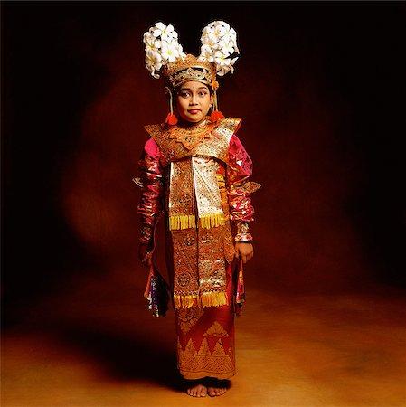 Indonesia, Bali, Ubud, Legong dancer in full costume. Stock Photo - Rights-Managed, Code: 849-02867631