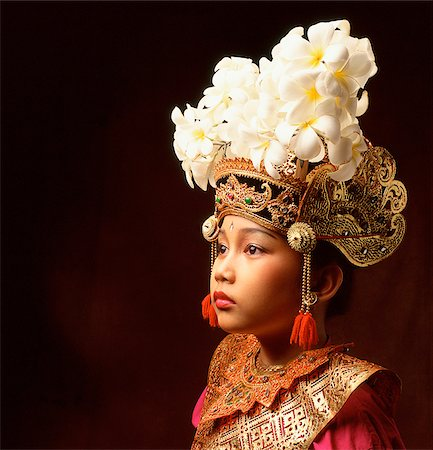 Indonesia, Bali, Ubud, Legong dancer in full costume. Stock Photo - Rights-Managed, Code: 849-02867633