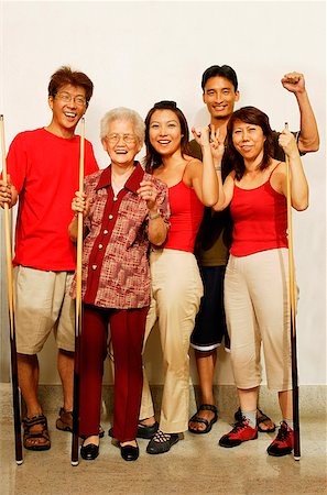 Three generation family, looking at camera, smiling Stock Photo - Rights-Managed, Code: 849-02871498