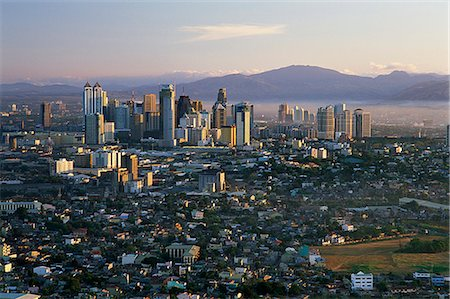 Philippines,Manila,Pasig City Business Area Skyline Stock Photo - Rights-Managed, Code: 849-03645090